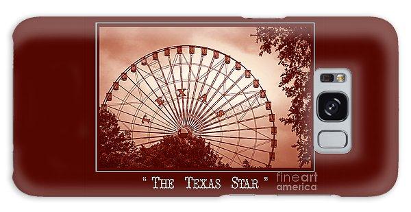 Texas Star In Orange Galaxy Case