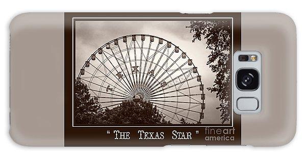 Texas Star In Sepia Galaxy Case