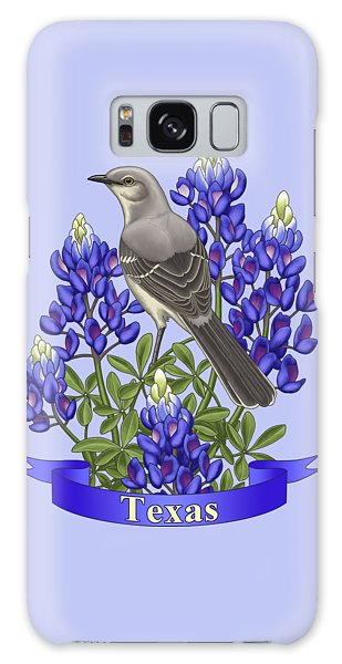 Texas State Mockingbird And Bluebonnet Flower Galaxy S8 Case