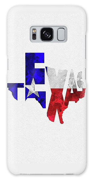 Texas Typographic Map Flag Galaxy Case