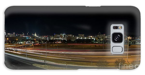Texas University Tower And Downtown Austin Skyline From Ih35 Galaxy Case