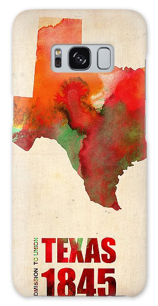 City Map Galaxy Case - Texas Watercolor Map by Naxart Studio