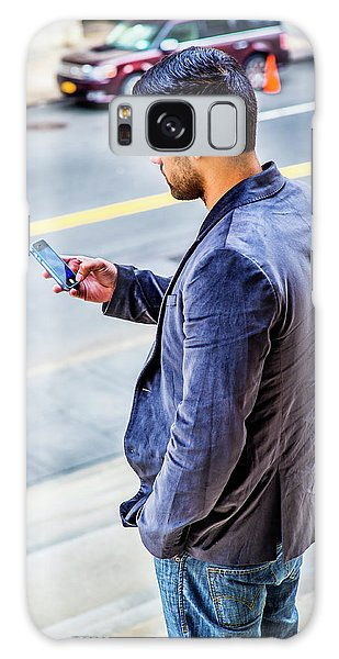 Man Texting Galaxy Case