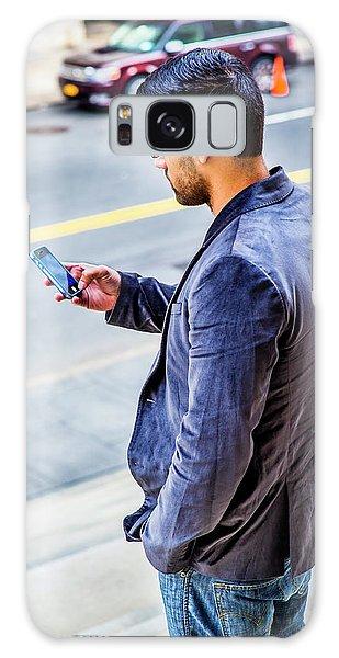 Man Texting Galaxy Case