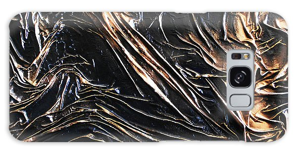 Textured Black Galaxy Case by Angela Stout