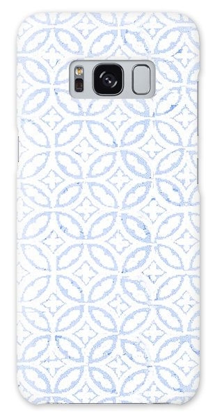 Textured Blue Diamond And Oval Pattern Galaxy Case