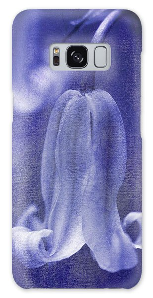 Blossoms Galaxy Case - Textured Bluebell In Blue by Meirion Matthias