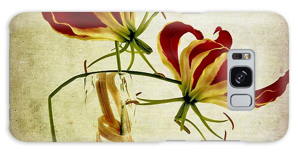 Orchidaceae Galaxy Case - Textured Gloriosa Lily. by Bernard Jaubert