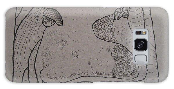 Textured Hippo Galaxy Case