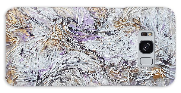 Textured Purple And Gold Galaxy Case by Angela Stout