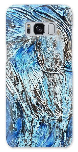 Textured Woman Posing Galaxy Case by Angela Stout