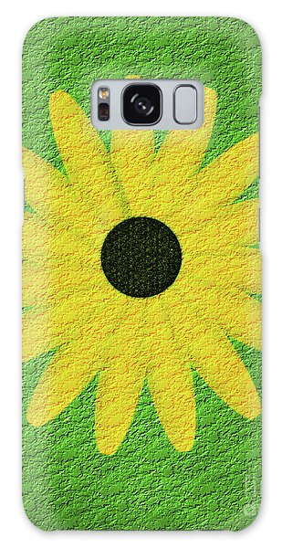 Textured Yellow Daisy Galaxy Case
