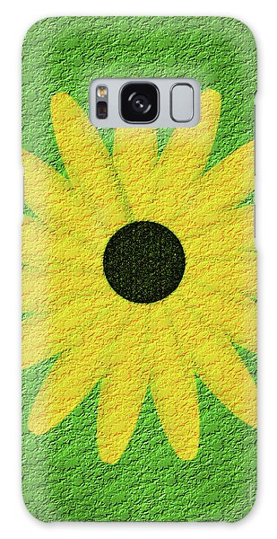 Textured Yellow Daisy Galaxy Case