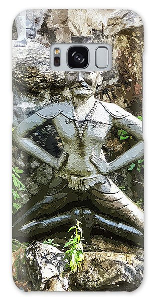Thai Yoga Statue At Wat Pho Galaxy Case
