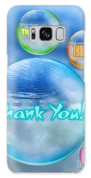 Thank You Bubbles Galaxy Case