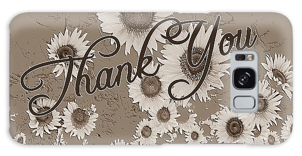 Thank You Card Daisies Galaxy Case