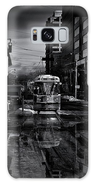 Galaxy Case featuring the photograph The 512 St. Clair Streetcar Toronto Canada Reflection by Brian Carson