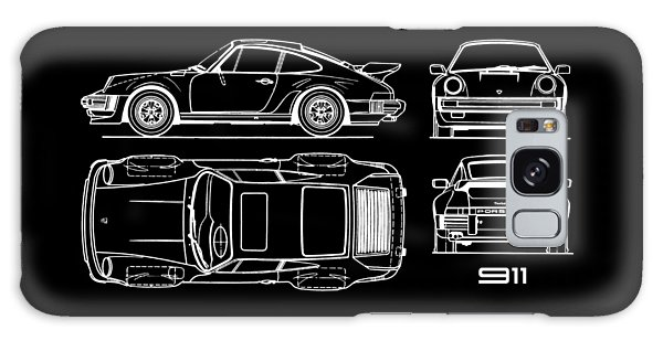 Sports Car Galaxy Case - The 911 Turbo Blueprint by Mark Rogan