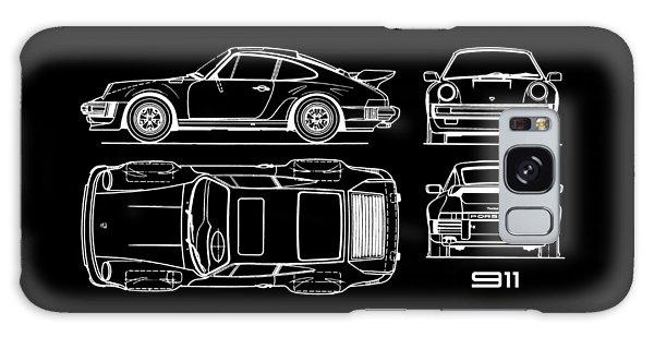 Car blueprint galaxy cases fine art america car blueprint galaxy case the 911 turbo blueprint by mark rogan malvernweather Image collections
