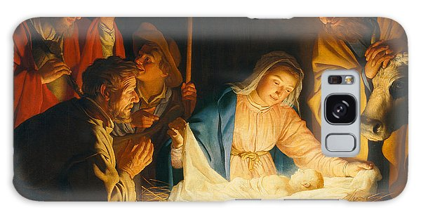 Bethlehem Galaxy Case - The Adoration Of The Shepherds by Gerrit van Honthorst
