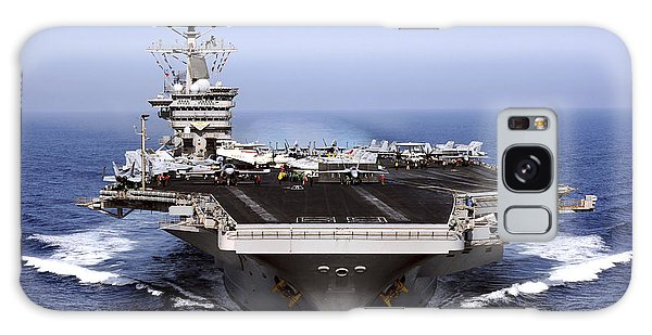 Galaxy Case featuring the photograph The Aircraft Carrier Uss Dwight D by Stocktrek Images