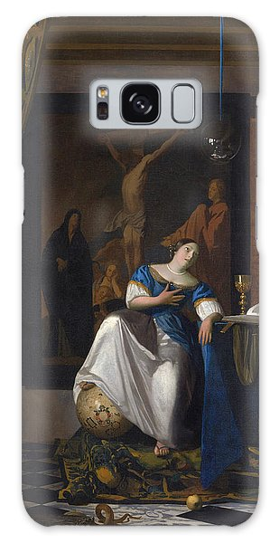 Jan Vermeer Galaxy Case - The Allegory Of The Faith by Jan Vermeer