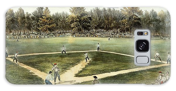 The American National Game Of Baseball Grand Match At Elysian Fields Galaxy Case
