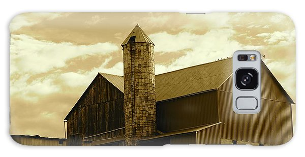 The Amish Silo Barn Galaxy Case
