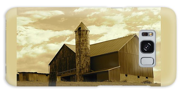 The Amish Silo Barn Galaxy Case