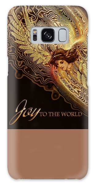 Galaxy Case featuring the painting The Angel Cometh by Valerie Anne Kelly