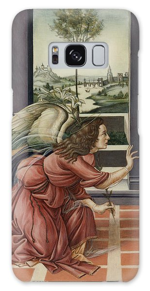 The Annunciation After Botticelli Galaxy Case by Yvonne Wright