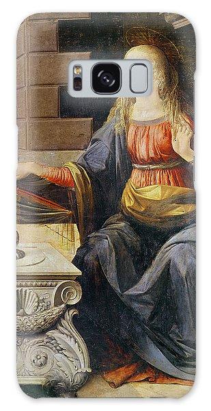 Annunciation Galaxy Case - The Annunciation   Detail Of The Virgin by Leonardo Da Vinci