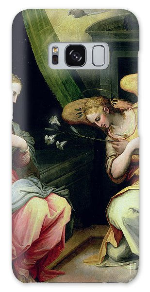 Annunciation Galaxy Case - The Annunciation by Giorgio Vasari