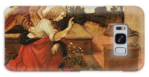 Annunciation Galaxy Case - The Annunciation by Lorenzo di Credi