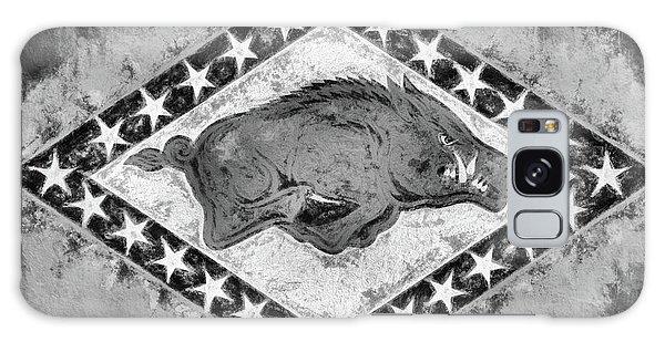The Arkansas Razorbacks Black And White Galaxy Case by JC Findley