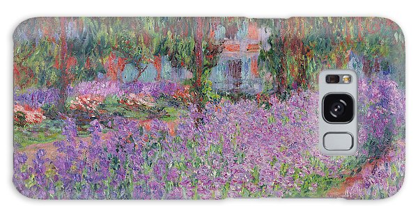 Impressionism Galaxy Case - The Artists Garden At Giverny by Claude Monet