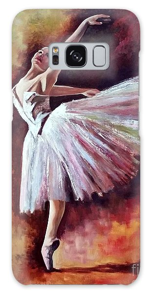 Galaxy Case featuring the painting The Dancer Tilting - Adaptation Of Degas Artwork by Rosario Piazza
