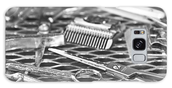 The Barber Shop 10 Bw Galaxy Case by Angelina Vick