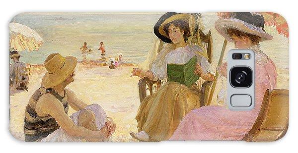 Parasol Galaxy Case - The Beach by Alfred Victor Fournier