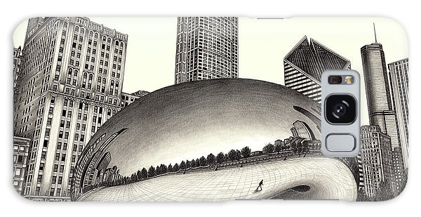 The Beach Chicago Drawing Galaxy Case