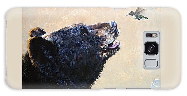 Wildlife Galaxy Case - The Bear And The Hummingbird by J W Baker