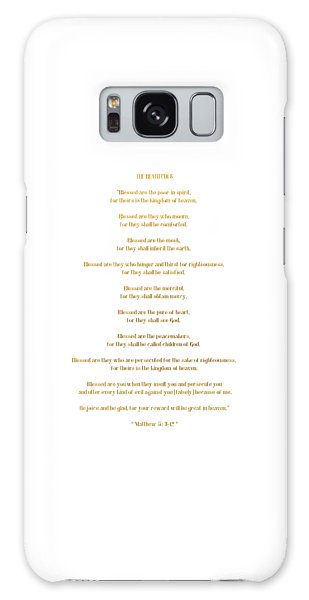 The Beatitudes Gospel Of Matthew Galaxy Case