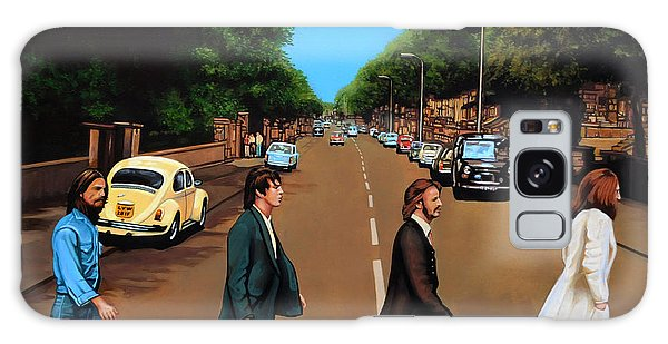 The Beatles Abbey Road Galaxy Case by Paul Meijering