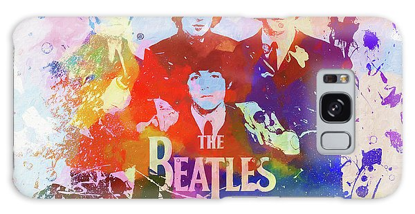 The Beatles Paint Splatter  Galaxy Case