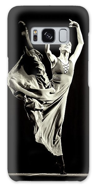Galaxy Case featuring the photograph The Beautiful Ballerina Dancing In Long Dress by Dimitar Hristov