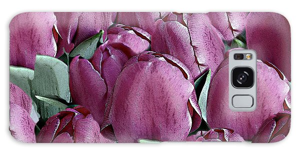 The Beauty And Depth Of A Bed Of Tulips Galaxy Case