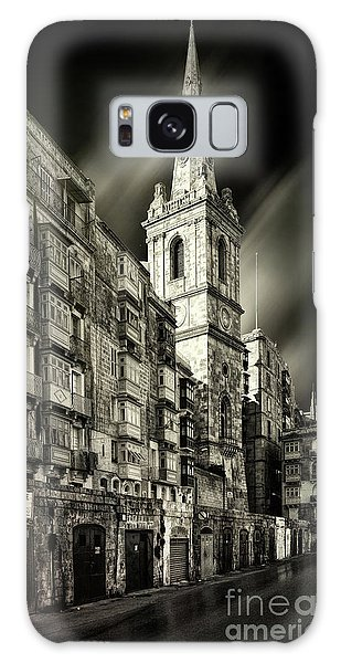 The Bell Tower Of A Church In Valletta Galaxy Case by Stephan Grixti