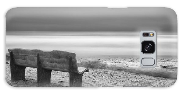 Black And White Art Galaxy Case - The Bench by Larry Marshall
