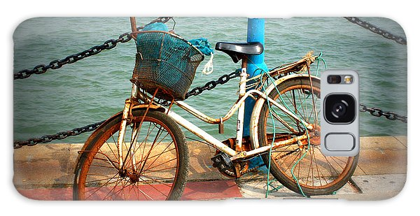 Rusty Chain Galaxy Case - The Bicycle by Carol Groenen