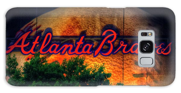 The Big Ball Atlanta Braves Baseball Signage Art Galaxy Case